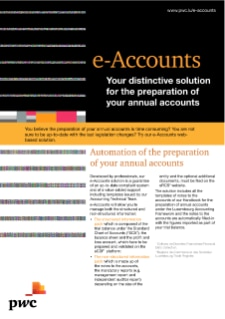 e-Accounts - Your distinctive solution for the preparation of your annual accounts