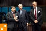Mr. Nan Cunhui with Mr. Juncker and Didier Mouget