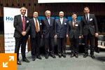 The winners with Mr. Juncker, Didier Mouget and Mr. Frank-Jürgen Richter (Horasis)