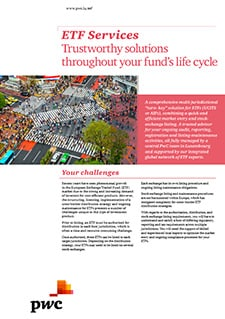 ETF Services: Trustworthy solutions throughout your fund's life cycle