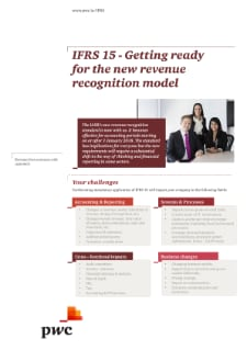 IFRS 15 - Getting ready for the new revenue recognition model