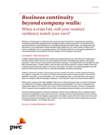 Business continuity beyond company walls