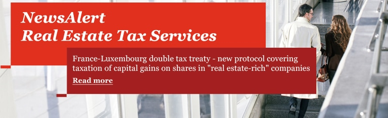 NewsAlert Real Estate Tax Services. Luxembourg - New tax measures for 2013 - Clarification in relation to the minimum corporate income tax