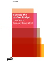 PwC Low Carbon Economy Index 2013