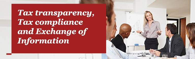 Tax transparency, Tax compliance and Exchange of Information