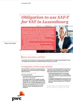 Obligation to use SAF-T for VAT in Luxembourg